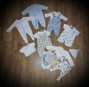 #90 Bundle Of Baby Boys Clothes Size Tiny Baby Outfits Sleepsuits