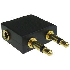 Plane Travel Adapter Converter 3.5mm Headphones Airline Audio Earphones