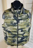 Polo Ralph Lauren Perf Camo Quilted Down Puffer Vest, Women's Large, NWT $298.00