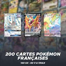 Lot de 200 Cartes Pokémon | 140 GX - 60 V Vmax | Français | Cartes Rares