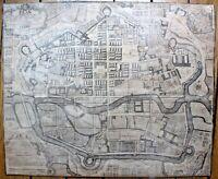 Plan Forestier Rennes 1720 Bretagne XVIIIe 18e siècle incendie gravure