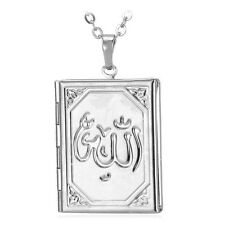 Allah Necklace Photo Picture Locket Pendant Necklace 18K Gold Plated Jewelry