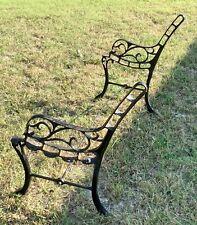 Cast Iron Park Bench Legs Vintage Pair Garden Patio Ends