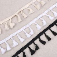 5Yard Tassel Fringe Lace Edge Trim Wedding Dress Ribbon DIY Sewing Craft Decor