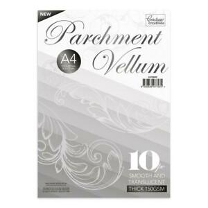 Couture Creations Parchment Vellum - A4 - (150gsm / 10pc) - 210 x 297mm