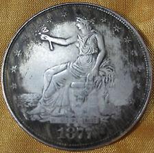 39mm Copper core Tibet silver 1877 American COINS Moore Morgan COINS