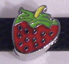 ♥ fresa rojo verde slider para pulsera slide charm exploto módulo ♥ mlab 007