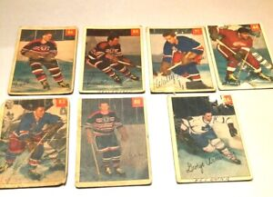 1954-55 Parkhurst lot of 8 fillers George Armstrong Pavelich Gee Conacher Fogoli