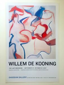WILLEM DE KOONING RARE LITHOGRAPH PRINT ABSTRACT EXPRESSIONIST EXHIBITION POSTER