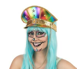 Deluxe Rainbow Military Hat / Cap Adult Fancy Dress 10% Donated to NHS Charity