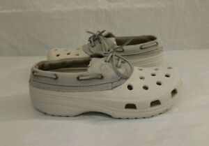Crocs Islander Leather Lace-Up Boat Shoes Size M6 W8