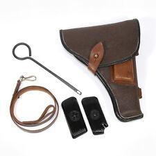 Russian Tokarev TT-33 set: belt holster, lanyard belt, cleaning rod and grips