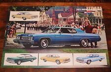 Vintage 1973 CHEVROLET Impala Bel Air DEALERSHIP Chevy Dealer Showroom Poster