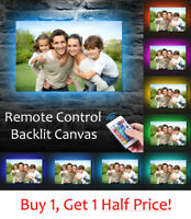 Your Photo To LED BACKLIT Canvas : USB Powered Box Canvas Wall Art *EXTRA LARGE*