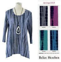 PRAIRIE COTTON USA  BZ759  BELIZE Scoop TEE TUNIC Long Top  S M L XL SPRING 2018
