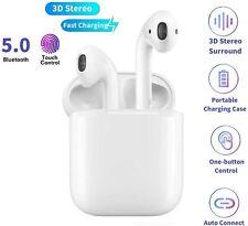 Écouteurs Bluetooth 5.0 Sans Fil Microphone IPX5 Étanche Sport Blanc Puissants