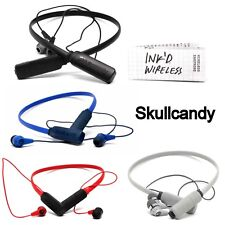 NEW Skullcandy INK'D Wireless Bluetooth Headphones with Mic White Red Black Blue