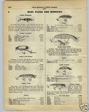 1930 PAPER AD Heddon Wood Wooden Fishing Lure Vamp Game Fisher Basser Crab Wigg
