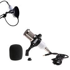 BM-800 Condenser Dynamic White Microphone+Shock Mount Sound Studio Recording