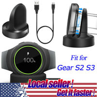 Qi Wireless Charging Dock Cradle Fast Charger For Samsung Gear S2/S3 Smart Watch