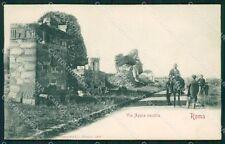 Roma Città Via Appia Vecchia cartolina QT2275