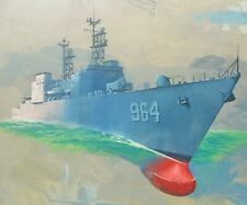 '74 GENERAL ELECTRIC USS Paul F Foster navy painting standard amoco oil vtg army