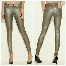 GUESS Power Skinny Jeans in Gold Metallic Wash 25