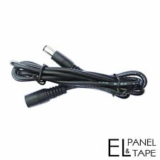 12v Extender 2.1mm/5.5mm connector for EL Panels and Tapes