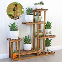 5 Tier Fir Wood Plant Stand Decorative Planter Holder Flower Pot Shelf Rack USA