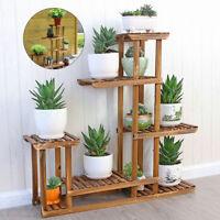 5 Tier Fir Wood Plant Stand Decorative Planter Holder Flower Pot Shelf Rack USA