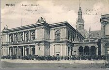 GERMAN POSTCARD 1907 HAMBURG BORSE STOCK EXCHANGE - FULHAM