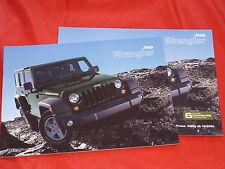 JEEP Wrangler Unlimited Sport Rubicon Sahara Prospekt + Preisliste von 2009
