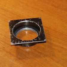 SUNKEN recessed LENS BOARD METAL BLACK for PRO CAMERA vintage 88x88mm square
