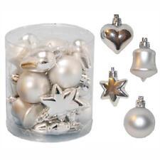 Décoration sapin de Noël 18 multi paquet Étoile Cœur sonnette boules - Argent