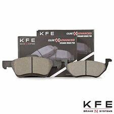 FRONT + REAR Premium Ceramic Disc Brake Pad New Set Plus Shims KFE1047 KFE1055