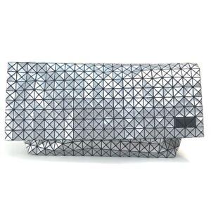 ISSEY MIYAKE BAOBAO Clutch bag Hand Bag PVC Silver x Black
