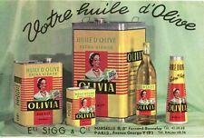BUVARD / PUBLICITAIRE // HUILE D'OLIVE EXTRA VIERGE OLIVIA