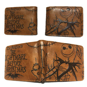 The Nightmare Before Christmas Leather Coins Wallet Short Card Holder Purse