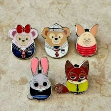 Disney Trading Pins Lot of 5 Set Shdl Easter Set Zootopia Duffy Piglet Nick Judy