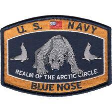 US NAVY  Polar Bear Blue Nose MILITARY MORALE JACKET HAT PATCH