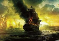 Pirates of the Carribean Ship on Fire POSTER