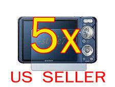 5x Sony CyberShot DSC- W290 W330 Camera Clear LCD Screen Protector Guard Film