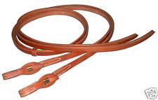 Western leather 3/4 x 8 split reins w/ quick change end Custom cowboy H3480