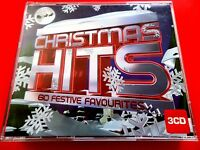 CHRISTMAS HITS - 60  FESTIVE  FAVOURITES  3 x CD  DARLENE LOVE, WHAM LAST XMAS