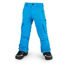 NWT Volcom Boys Cargo Ins Snowboard Pant Pants L Large 12Y Kids 15K BLUE oa325