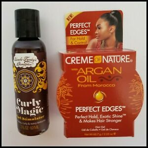 Uncle Funky's Daughter Curly Perfect Edge Curl Hair Revitalizer  Creme Nature