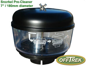 """Snorkel Head 180mm dia AIR Pre-Filter / Pre-Cleaner for 3"""" dia.body - VC34NC0030"""