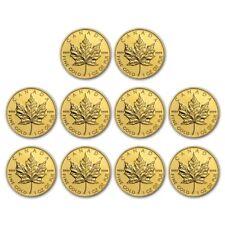 Special Price Bank Wire Canada 1 Oz Gold Maple Leaf 9999 Random Yr