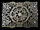 BEAUTIFUL DETAILED FLORAL FLOWER RHINESTONE COOL BELT BUCKLE BUCKLES