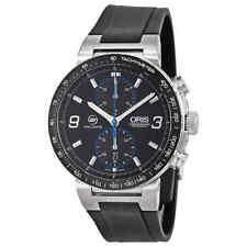 Oris Williams F1 Team Black Dial Rubber Strap Men's Watch 773-7685-4184RS